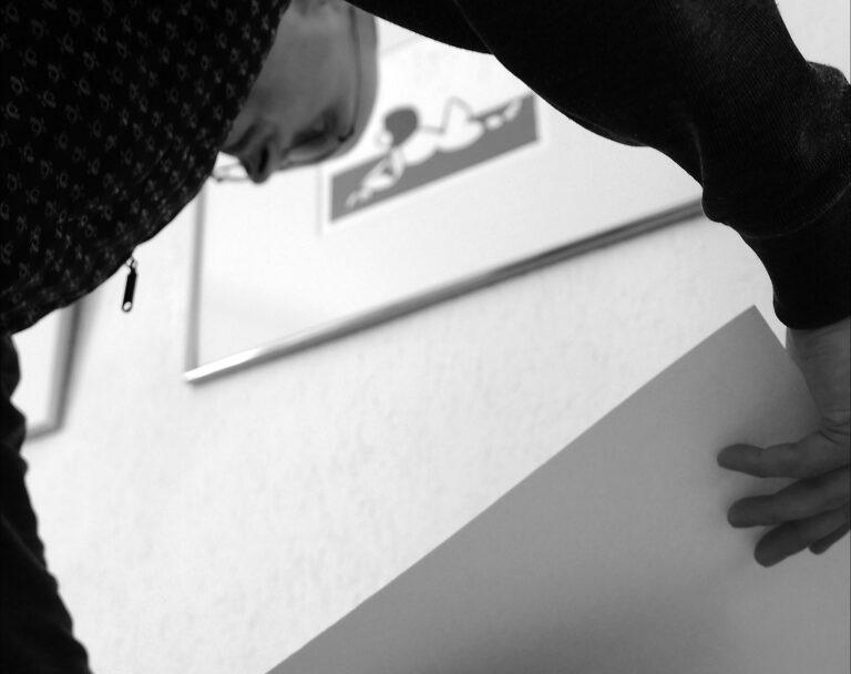Matthias Schwarz beim Drucken